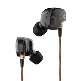 Kz estéreo online-KZ ATE Auriculares con cable en la oreja Original Metal Super Bass Sport Auriculares para correr HIFI Monitores deportivos DJ Studio Auriculares de música estéreo Auriculares