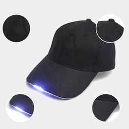 Lampada a LED Cap Flash Flash Cap Baseball Cap Cappello luminoso con batteria a bottone per barbecue all'aperto Escursionismo Pesca Sport Uomo Donna cheap tennis lamp da lampada da tennis fornitori