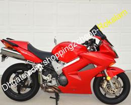 Para Honda Carenagem VFR800 VFR 800 VFR800R Red Motorcycle Fairing 2002 2003 2004 2005 2006 2007 2008 2009 2010 2011 2012 (Injecção) de