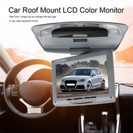 pantalla lcd roja Rebajas 9 pulgadas de montaje 800 * 480 coche de la pantalla de montaje en techo monitor LCD en color, tapa de la pantalla de arriba Multimedia Video Techo Techo de visualización de DVD del coche
