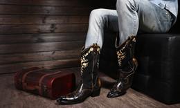Italian New Steel Toe Metal Botas Masculina Stivali alti al ginocchio Tacchi alti fatti a mano Stivali da cowboy con borchie Abiti da uomo supplier mens high heel cowboy boots da scarponi da cowboy in tacco alto fornitori
