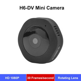 Mini camara de deteccion dv de movimiento online-Cámara portátil H6-DV Mini cámara HD para detección de movimiento Grabación en bucle 1080P Cam Portátil Magnético Manejado DV DC