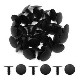 fissaggio in plastica per rivetti Sconti 30Pcs Clip di fissaggio Nero Car Plastic Push Rivet Fastener Bumper Clips Fit 5Mm X 4Mm Dia Hole