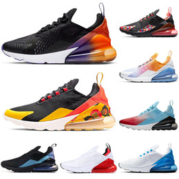 Chaussures de course tigre en Ligne-2019 nike air max airmax 270 hommes femmes chaussures de course Rainbow Black Gradient BARELY ROSE Université Red Tiger CACTUS formateurs respirants en plein air marche jogging