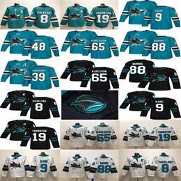 eishockey-haifisch Rabatt San Jose Sharks 88 Brent Burns 65 Erik Karlsson 19 Thornton 9 Evander Kane Green White Couture 2018 Eishockey-Trikots