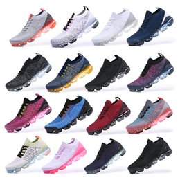 2019 flash real 2019 Moon Landing Blue Fury Knit 3.0 Zapatos para correr Hombres Mujeres Flash Crimson Oreo Rust Pink Triple Black White Midnight Navy Sneakers flash real baratos