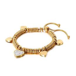cordões de borboleta Desconto Bohemia Strand Pulseiras Para Mulheres Ouro / Prata Aço Inoxidável Borboleta Coração Zircão Frisado Pulseira Mulheres Jóias de Luxo