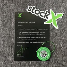 En gros En Stock X Vert Étiquette Circulaire Rcode Autocollant Carte De Circulaire Authentique StockX Boucle En Plastique pour Chaussures Accessoire ? partir de fabricateur