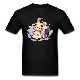 bolso feito sob encomenda camisetas Desconto T-shirt Mimikyu Monstro de Bolso Tshirt Para Homens Harajuku Kawaii T Camisas Masculinas Pika Pikachu Jogo Dos Desenhos Animados Tops Tees Filme Personalizado