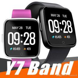 Canada Pour Apple iphone Y7 Smart Fitness Bracelet Tensiomètre Oxygène Sport Tracker Montre Moniteur de Fréquence Cardiaque Bracelet PK Fitbit Versa Ionic supplier ionic bracelets Offre