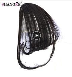 peças de cabelo curto sintéticas Desconto Curto Sintético Franja Resistente Ao Calor Cabelo Sintético Mulheres Naturais Curto Falso Cabelo Bangs Mulheres Pedaços de Cabelo