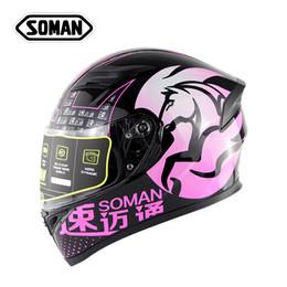 2019 casco completo xxl Casco moto rosa Casco integrale Casco da moto ABS Casco da motocross Donna Uomo Moto Capacete Doppia lente ECE Casco Moto sconti casco completo xxl