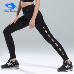 2019 secador de corpo inteiro Esvaziou o lado comprimento total Calças de Yoga Elástico apertado Calças mulheres Secagem rápida de Alta cintura corpo Lazer de fitness Trunks # 588255 desconto secador de corpo inteiro