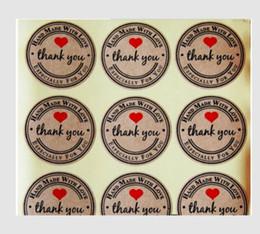 Lindas pegatinas de sellos online-1 pulgada redonda Kraft natural gracias pegatinas 100 etiquetas por rollo lindas pegatinas para etiquetas de sello hechas a mano con etiqueta de amor