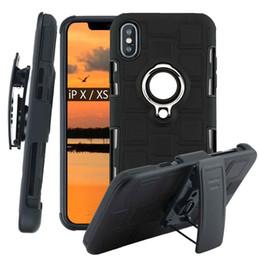 Kunststoffgürtel zurück online-2019 i8 Hartplastik zurück Shell-Fall für iphone x XS Max XR Dreh-Gürtelclip Holster Abdeckungs-Telefon-Schutz-Fall für Apple-8 7 6s Plus