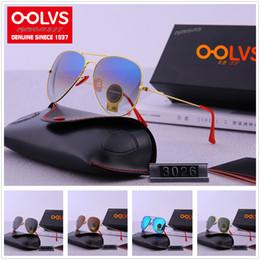 Explosionsgeschützte sonnenbrille online-Art (6) OOLVS RAYSF 5A + hochwertige Steigungs-klassische Versuchs-Sonnenbrille F30-26 Polaroid HD explosionssichere Glaslinse Freies Verschiffen