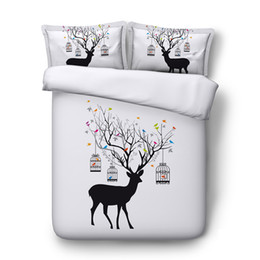 Cerf de Noël Imprimer décoratif 3 Piece Literie Set Elk housse de couette Ensembles 2 Pillow Shams Antler Decor ? partir de fabricateur