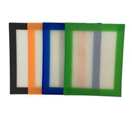 2019 uda coroa rda Aprovado pela FDA Food grade pequena não-stick slick oil mat silicone dab bho cera mat com silicone e fibra de vidro construção 102x127mm