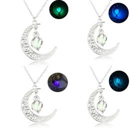 Pendenti dei monili di glow online-Charm Hollow incandescente collana luminosa donne gioielli di moda a spirale ciondolo a palla glow in the dark collane 4 stili regalo di natale B457Q F