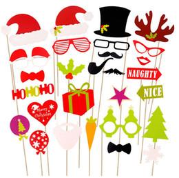 videospiel requisiten Rabatt Weihnachten 50 Stück Schießen Requisiten Rentier Horn Bart rote Lippen Papier Foto Requisiten liefert (2 PCS)