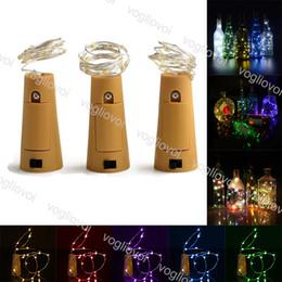 2019 luzes de fadas 2m Rolha de garrafa de Cobre LED Luzes Da Corda 1 M 10LED 2 M 20LED Faixa De Fadas De Fadas Ao Ar Livre Decoração Do Partido Da Lâmpada Da Novidade Cortiça Luz Corda EPACKET luzes de fadas 2m barato