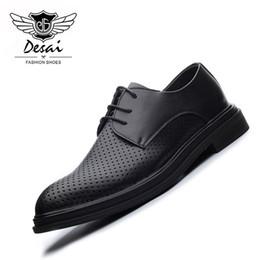 ec5b8b9961d21b 2019 stanzkleid DESAI Hohl Atmungsaktive Schuhe Männer Sommer Herbst  Britische Mode Spitze Business Kleid Männer Schuhe