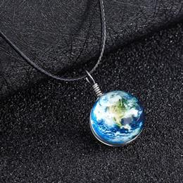 palla di pietra splendente Sconti Collana a due lati di sfere luminose Collana di gemme di pietra incandescente scuro Gioielli regali di Natale
