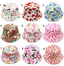 30 colori cappello esterno griglia bambini cappello della benna casual fiore sole stampato bacino tela topee bambini pescatore berretti berretto da bambino m429 da