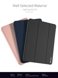 Funda dura de ipad mini online-DUX DUCIS Funda de cuero de lujo de la PU Folio Inteligente PC duro titular de la tapa del tirón para iPad 2018 2017 9.7 pulgadas Nuevo ipad pro 10.5 ipad mini air