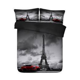 Französische bettwäsche online-Paris Eiffelturm Theme Bettbezug-Set 3 Stück Mädchen Trösterdecke Bett-Set Bettwäsche Tagesdecke Französisch Stil stilvolle und lebendige Muster