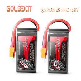 le batterie di lipo delle automobili rc Sconti 2units Goldbat 14.8 v Caricabatteria 1500mah 4s Lipo Caricabatteria 100c Pack Lipo con Xt60 Plug per Rc Car Truck Airplane Fpv J190722