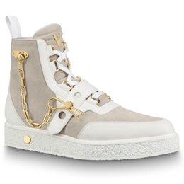 CREEPER botas de luxo da senhora dos homens botas últimas botas de grife de corrente Dourada decoração tamanho 35-44 modelo HX01 de
