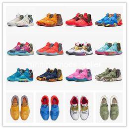 scarpe da ginnastica riscaldate Sconti 2019 Kyrie 6 scarpe Pre-Heat Shanghai Pechino Guangzhou NYC Miami Mens Basketball Irving 6 Houston Heal The World Designers Sneakers 40-46