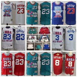 Shorts de basquete de kobe on-line-Vintage Homens costurado All-Star 23 de Michael