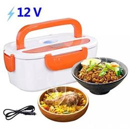 Коробка для завтрака согревает пищу онлайн-12 в портативный электрический подогреваемый автомобиль Plug отопление обед Бенто коробка риса контейнер офис домашнего питания теплее MMA1180 30 шт.