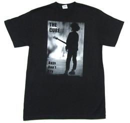 2019 nuovo ragazzo della camicia degli stili di marca The Cure Boys Do not Cry Gray Image Maglietta nera New Official Band Print Casual T-Shirt Uomo Marca top tee Stile semplice sconti nuovo ragazzo della camicia degli stili di marca