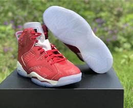 chaussure incroyable Promotion Navire Pas Cher 6 Varsity Rouge Blanc Hommes Basketball Designer Chaussures Avec Boîte Classique VI Slam Dunk Custom Amazing Sports Trainers Bonne Qualité