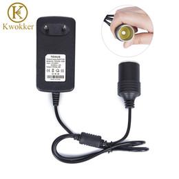 caricabatteria per auto mini plug plug eu Sconti Mini Sigaretta 3A UE / USA spina 110 / 240V AC a DC Converter 12V 3A auto accendisigari adattatore trasformatore Presa per GPS per auto E-Dog