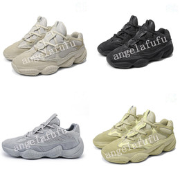 Para hombre del estilo zapatos de color amarillo online-2019 New style 500 Kanye West Casual Shoes Men and women Designer Shoes Super Moon Yellow Blush Desert Rat 500 Trainers Sneakers