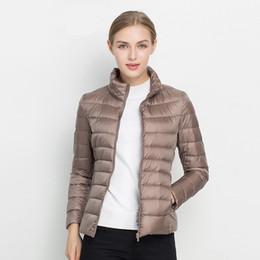 3e2a3839f42 Women Winter Coat 2018 New Ultra Light White Duck Down Jacket Slim Women  Winter Puffer Jacket Portable Windproof Down Coat T5190612