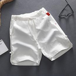 cravatta biancheria da letto in cotone uomo Sconti Pantaloncini casual estivi Uomo Lino Cotone solido sciolto uomo Coulisse Morbidi pantaloncini comodi Taglie forti L-5XL
