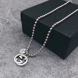 collane lunghe per il matrimonio Sconti Ciondolo in argento sterling 925 lungo giro collane choker per le donne Gioielli da sposa regalo Boho gg Collana marchio di lusso
