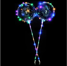 Großhandel 20inch Klar leuchtender LED-Ballone mit 70cm-Stick Hochzeit Dekorationen Ballon von Fabrikanten