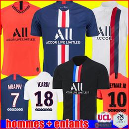 Füße setzen online-ICARDI JORDAN PSG 19 20 soccer jersey Fußball Trikots 2019 2020 Paris Saint Germain Trikot NEYMAR JR MBAPPE Trikot Survêtement Fußball Kit Fußball Shirt Frauen vierte 4.