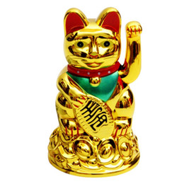 Plastica elettrico Maneki Neko gatto fortunato del gatto di fortuna con agitando braccio Battery Operated per Home Office Restaurant memoria del negozio da