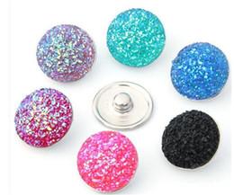 fascino acrilico diy Sconti Di alta qualità Noosa 18MM acrilico metallo Snap Button stili misti fai-da-te scatta gioielli fascino braccialetto braccialetto adatto