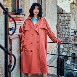 2019 abrigo rosa para la mujer Chic 2018 Moda Primavera Otoño Manga Larga  Rojo Rosa Doble 74e58c2e2f6d