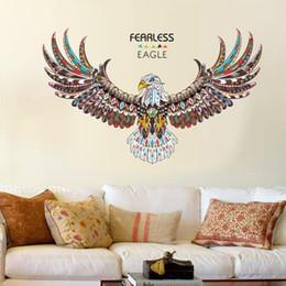 Pintura de parede da águia on-line-20190621 Nova Águia Personalidade Quarto Sala de estar Estudo Escritório Decoração de Parede Decoração de Parede Auto-adesivo
