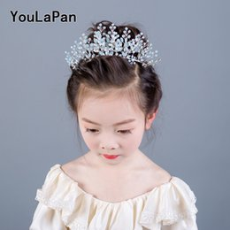 946fa41aa7454 YouLaPan HP200 Wedding Hair Accessories For children Crown With Milk Rhinestone  Children crowns in Hair Jewelry crown for girl