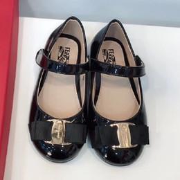 Canada Toddler fille chaussures Bow grandes filles Sandales astuce contraignant enfants Sweet Princess Chaussures bébé ballet taille 26-35 enfants sandales habillées chaussures d'orsay plat Offre